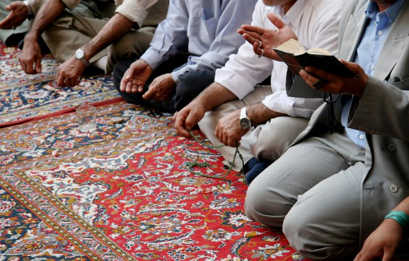 prayer on mat