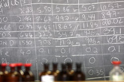 Blackboard with results