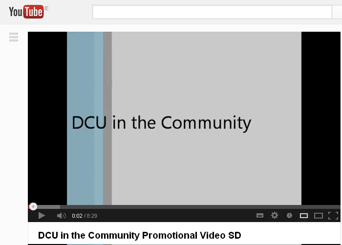 DCU in the Community Promotional Video