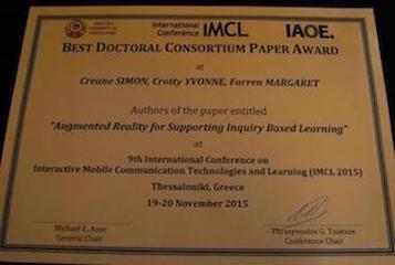 Best Doctoral Consortium Paper Award