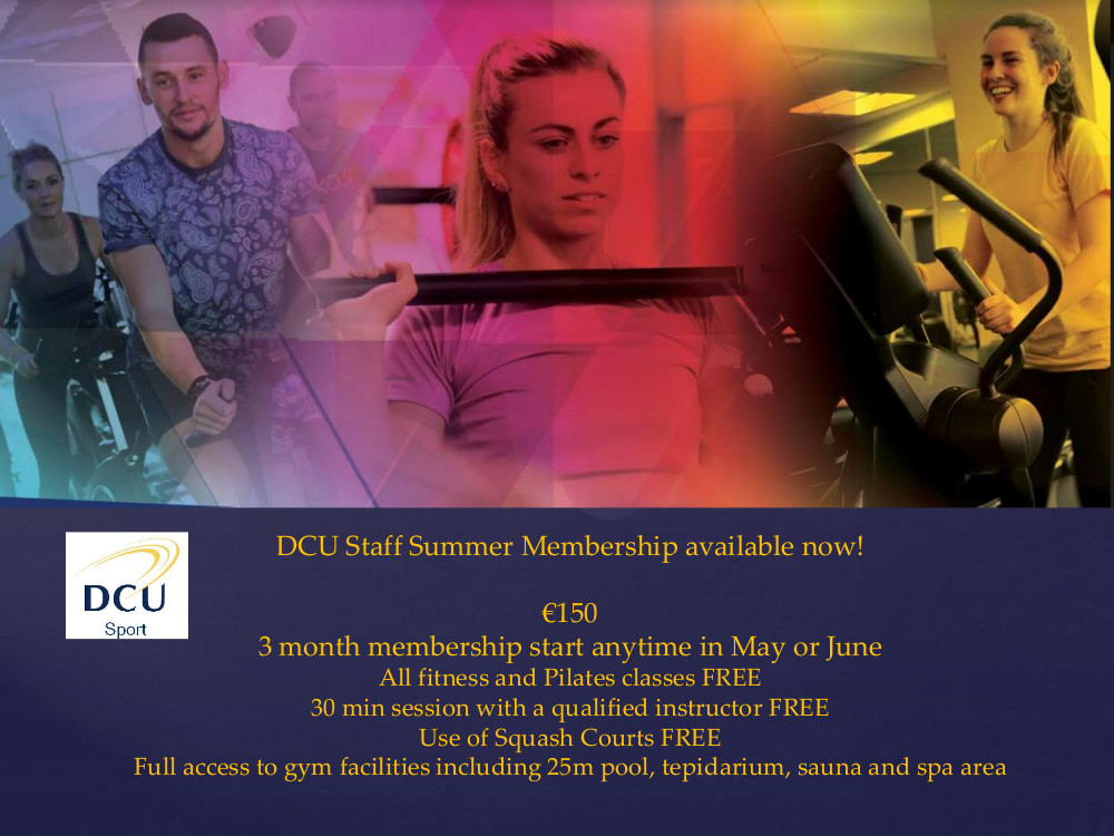 People in gym, DCU Staff summer rate €150