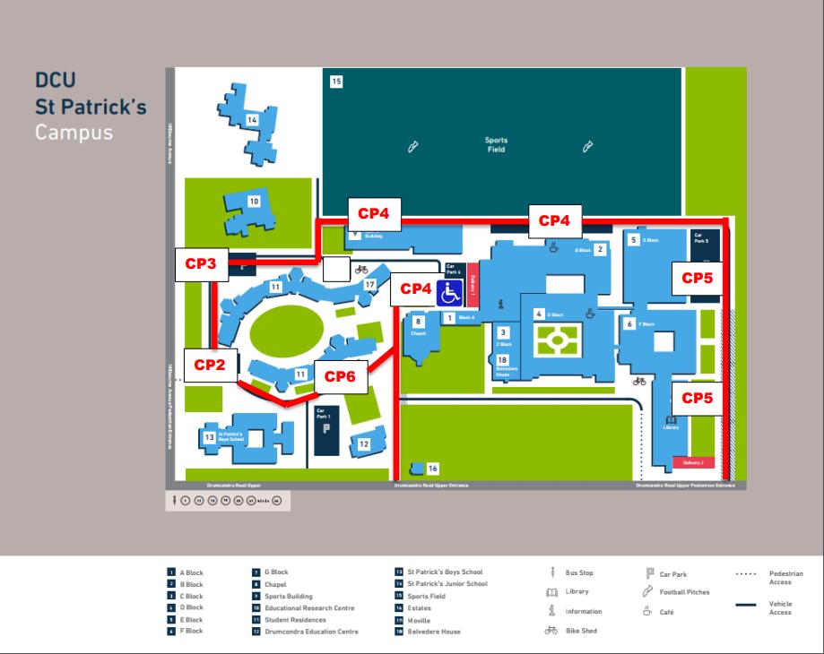 Information Parking Estates Office Dcu