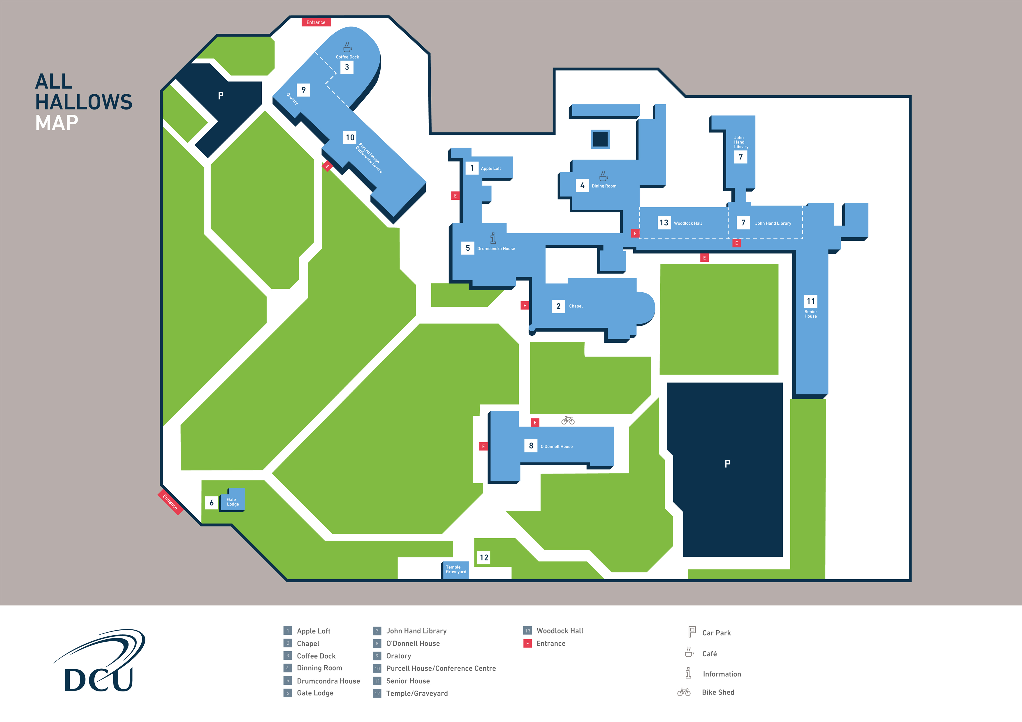 Rogers State University Campus Map.Information Dcu Campus Map Dcu