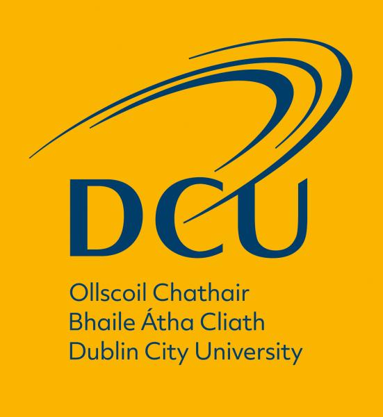 Yellow DCU logo Logo