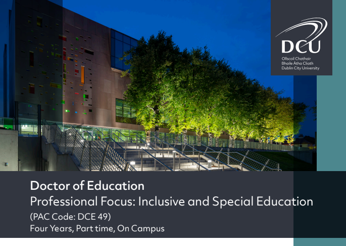 Doctor of Education - Inclusive and Special Education