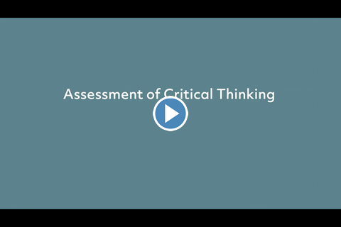 Assessment of Critical Thinking