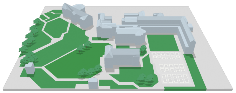 DCU All Hallows - 3D Interactive Campus Map - Please click to activate