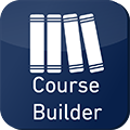 Coursebuilder is a development tool for teaching and learning, designed to assist staff with the writing of module descriptors in terms of learning outcomes in the short term and to facilitate on-going academic development in the future.