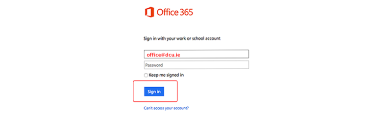 Office 365 logon