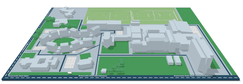 DCU St Pat's - 3D Interactive Campus Map - Please click to activate
