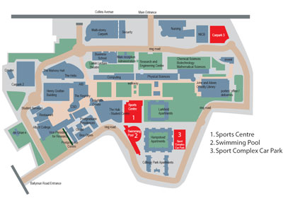 Location of Sports facilities