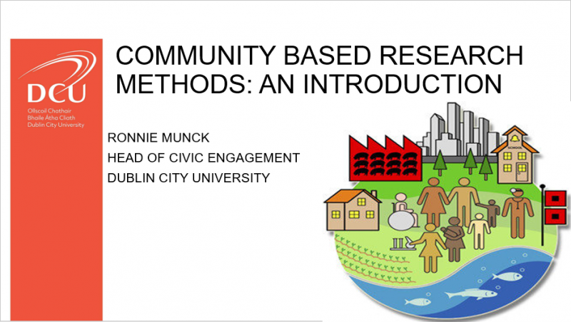 Community Based Research Methods - An Introduction Prof Munck