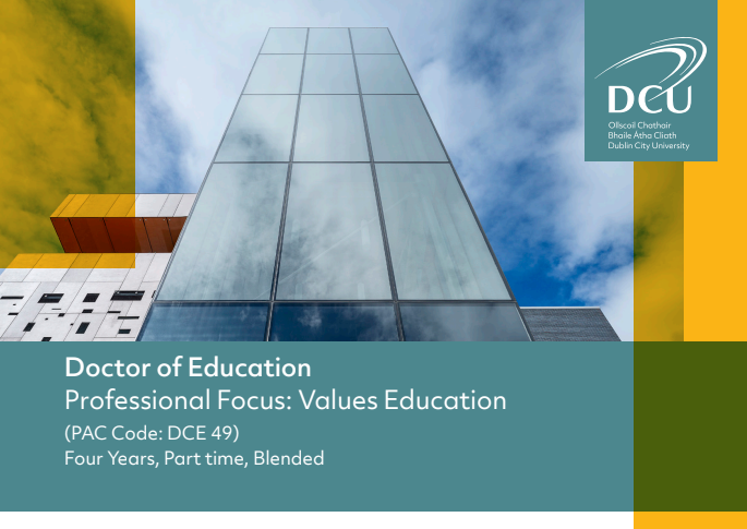 Doctor of Education - Values Education