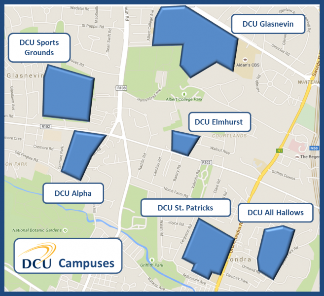 DCU Campuses Map Oct 2016