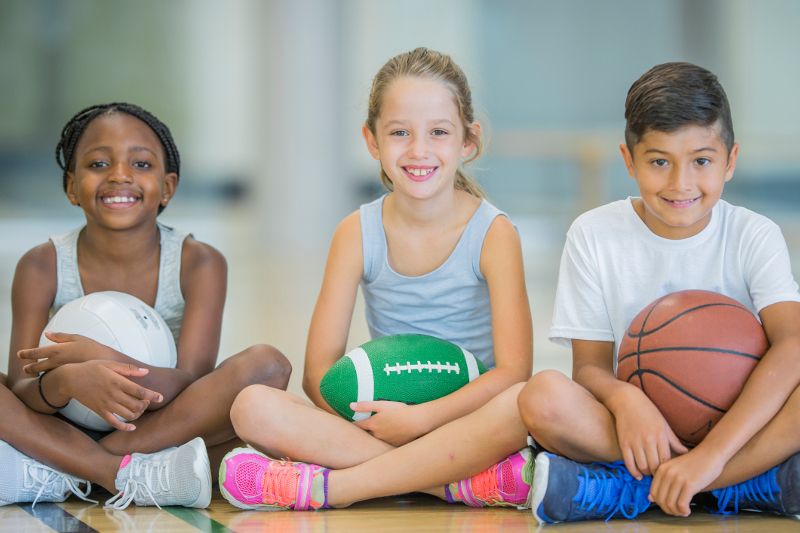 children ready for sport