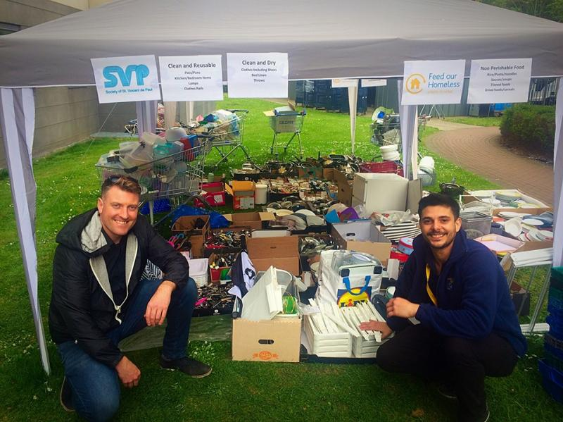 DCU Chaplaincy and St Vincent de Paul collaborate on recycling drive, Summer 2019