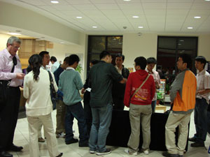 Students from Wuhan University check in to DCU accommodation