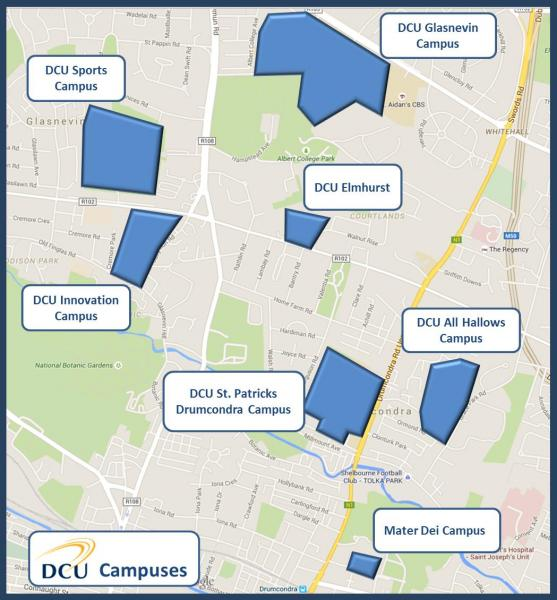 DCU Campus Map