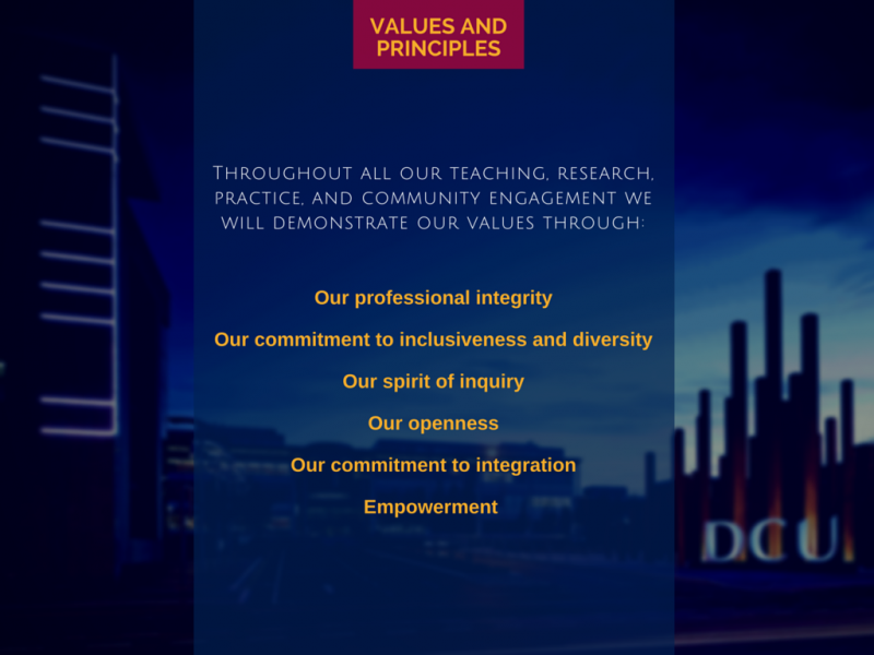 Statement of Purpose - Values and Principles