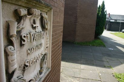 Entrance logo of St Patrick's Boys National School, Drumcondra