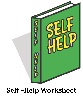 Self-help worksheet