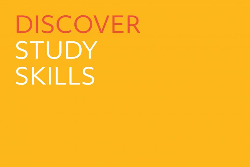 Cover slide - Discover study skills