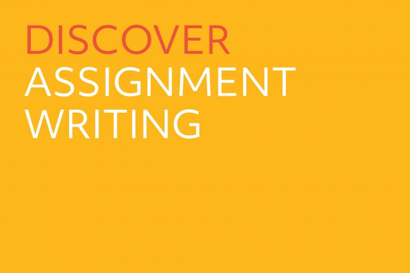 Cover slide - Discover assignment writing
