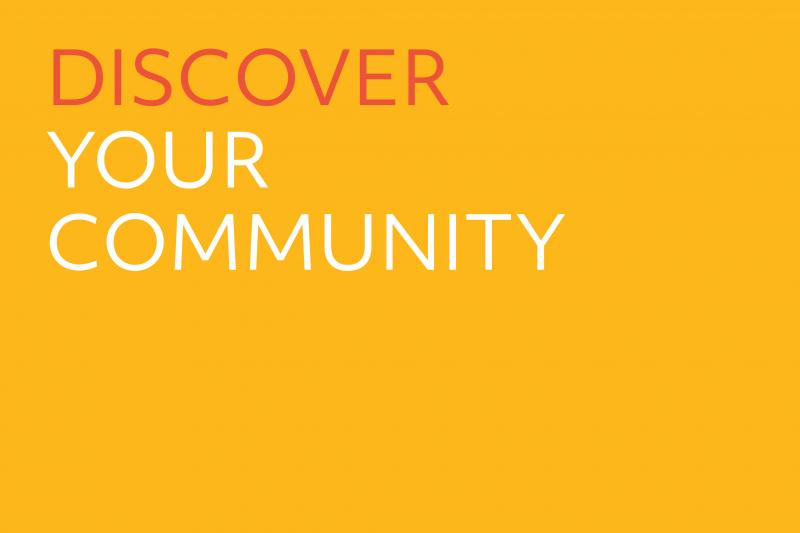 Cover slide Discover your community