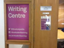 writing centre door and contact details