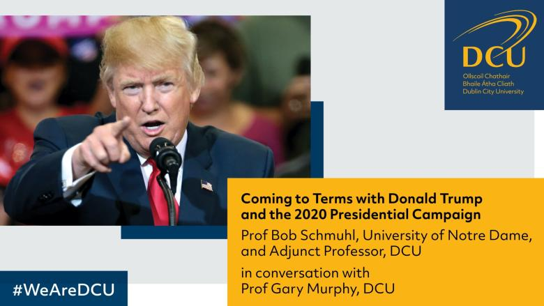 Prof. Gary Murphy chatted with Prof. Bob Schmuhl on Fireside chat and discussed upcoming 2020 US Presidential Elections
