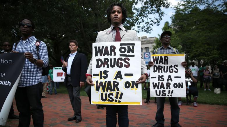 Anti-War on Drugs protest