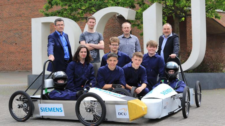 DCU and Donabate Community College Score Success at Kirkstown Motor Track