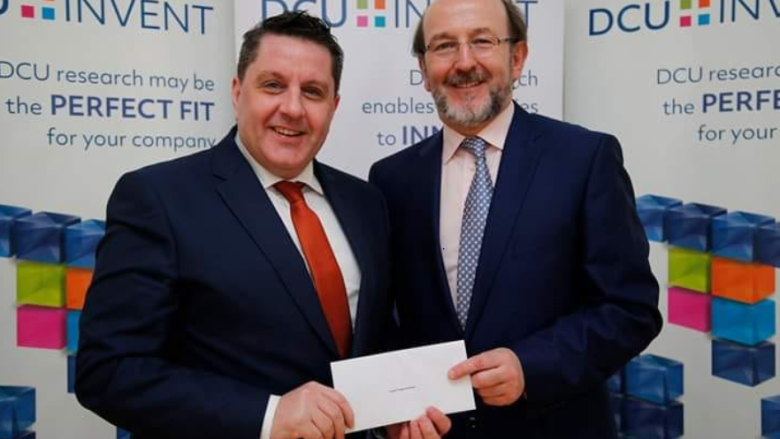 Prof James O'Higgins Norman receives DCU Invent Award presented by President Brian MacCraith