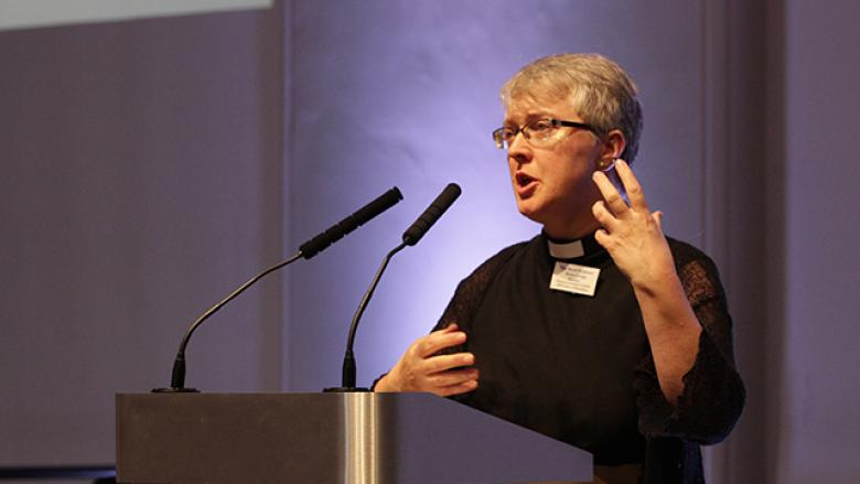 Rev. Prof. Anne Lodge speaking at the Anglican Interfaith Commission 2019 Regional Network Meeting, Monday 9th September 2019, C