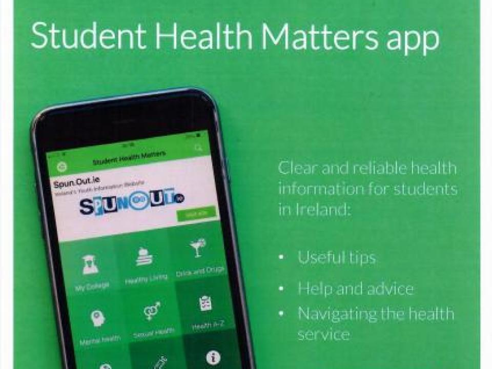 Student Health Matters App poster