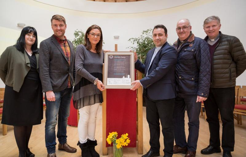 Chaplaincy and Student Services staff unveil DCU's Inter Faith Charter