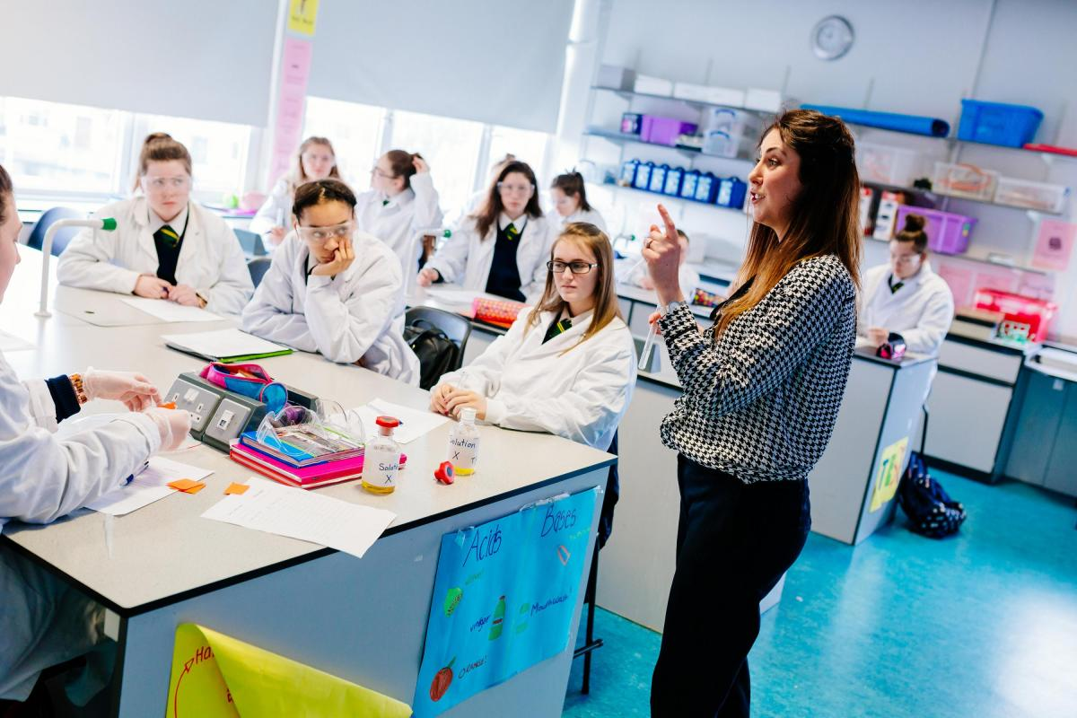 Local Students in a lab