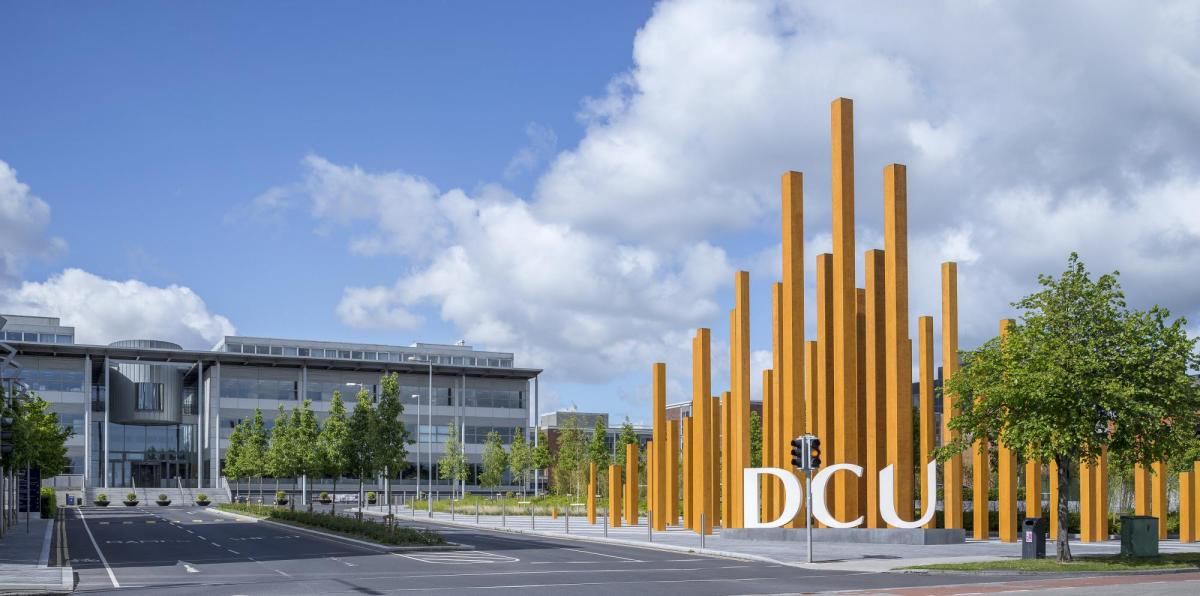 DCU Entrance with logo