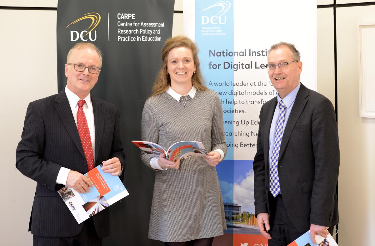 "Prof. Michael O'Leary, Dr. Darina Scully & Prof. Mark Brown at the launch of ""The Learning Portfolio in Higher Education"""