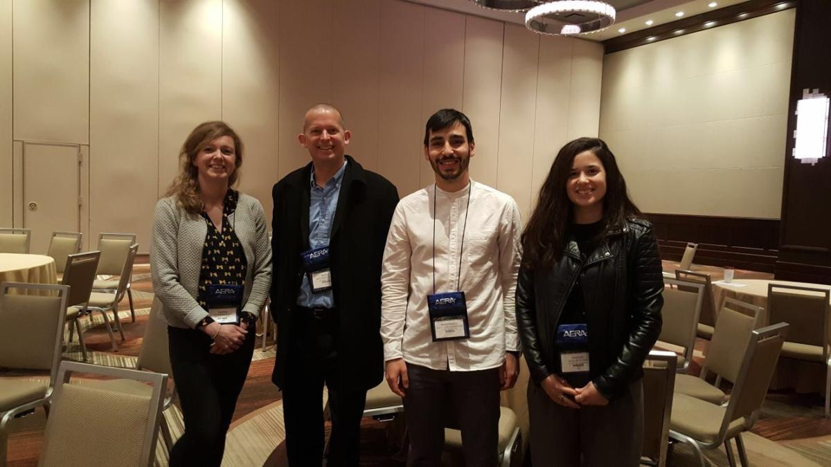 Darina Scully, Steven Stemler, Anastasios Karakolidis and Vasiliki Pitsia, following their Roundtable Presentation at the AERA A