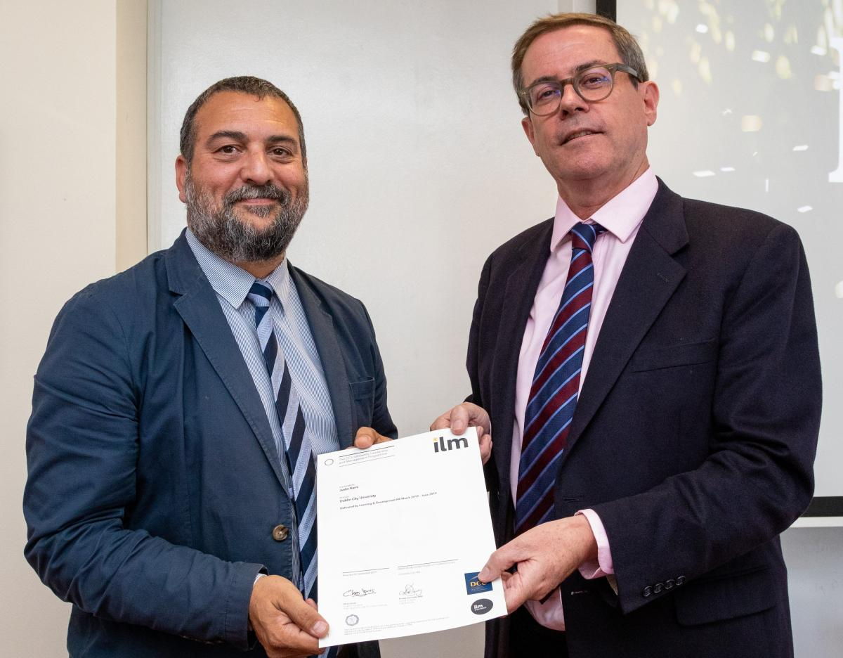 Dr Justin Rami graduates from the University Leadership and Management Programme