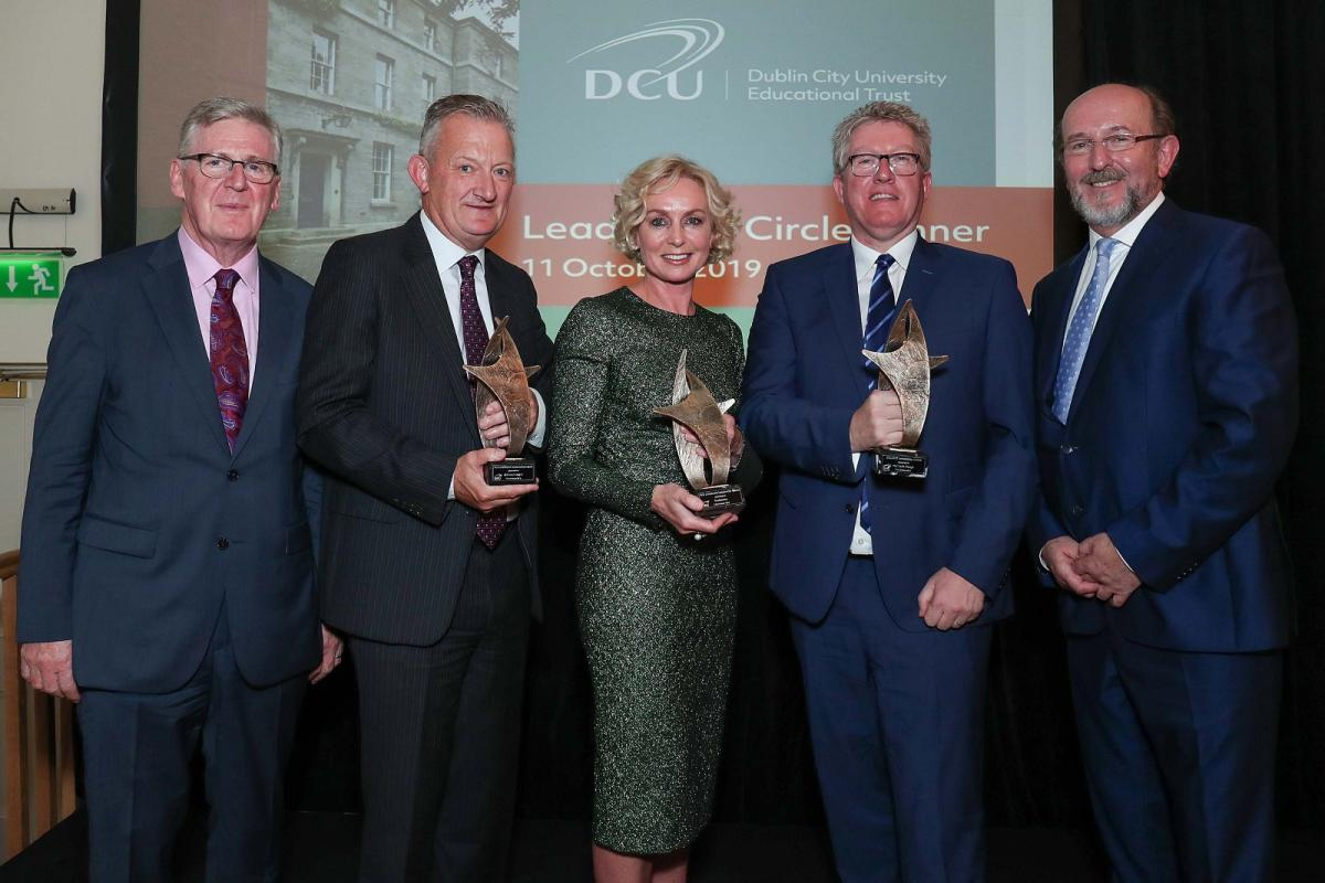 Vodafone, Michael Dwyer and Daire Keogh recipients of DCU Leadership Awards