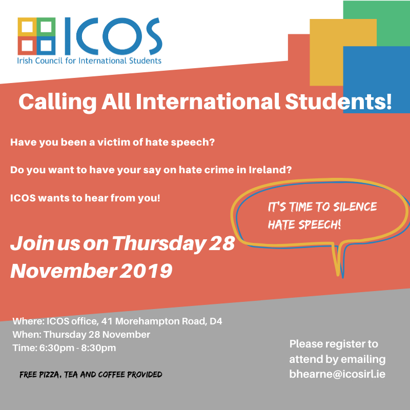 Irish Council for International Students Meeting 28th November 2019